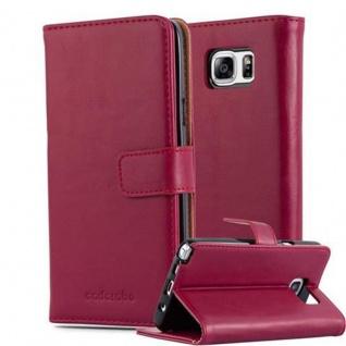 Cadorabo Hülle für Samsung Galaxy NOTE 5 in WEIN ROT ? Handyhülle mit Magnetverschluss, Standfunktion und Kartenfach ? Case Cover Schutzhülle Etui Tasche Book Klapp Style