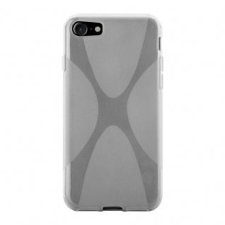 Cadorabo Hülle für Apple iPhone 8 / iPhone 7 / iPhone 7S in HALB TRANSPARENT - Handyhülle aus flexiblem TPU Silikon - Silikonhülle Schutzhülle Ultra Slim Soft Back Cover Case Bumper