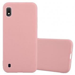 Cadorabo Hülle für Samsung Galaxy A10 in CANDY ROSA - Handyhülle aus flexiblem TPU Silikon - Silikonhülle Schutzhülle Ultra Slim Soft Back Cover Case Bumper