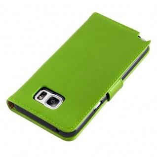 Cadorabo Hülle für Samsung Galaxy NOTE 5 in GRAS GRÜN ? Handyhülle mit Magnetverschluss, Standfunktion und Kartenfach ? Case Cover Schutzhülle Etui Tasche Book Klapp Style - Vorschau 5