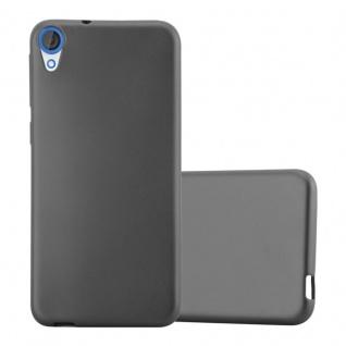 Cadorabo Hülle für HTC DESIRE 820 in METALLIC GRAU - Handyhülle aus flexiblem TPU Silikon - Silikonhülle Schutzhülle Ultra Slim Soft Back Cover Case Bumper - Vorschau 1