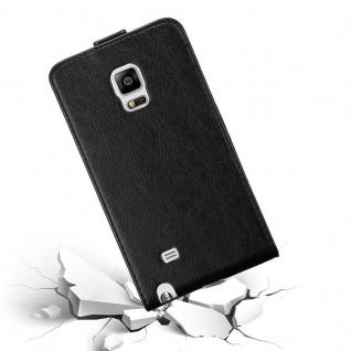 Cadorabo Hülle für Samsung Galaxy NOTE EDGE in NACHT SCHWARZ - Handyhülle im Flip Design mit unsichtbarem Magnetverschluss - Case Cover Schutzhülle Etui Tasche Book Klapp Style - Vorschau 4