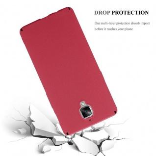 Cadorabo Hülle für OnePlus 3 / 3T in FROSTY ROT - Hardcase Handyhülle aus Plastik gegen Kratzer und Stöße - Schutzhülle Bumper Ultra Slim Back Case Hard Cover - Vorschau 3