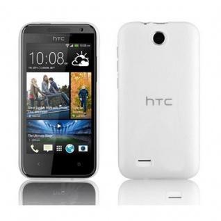 Cadorabo Hülle für HTC Desire 300 in HALB TRANSPARENT ? Handyhülle aus flexiblem TPU Silikon ? Silikonhülle Schutzhülle Ultra Slim Soft Back Cover Case Bumper
