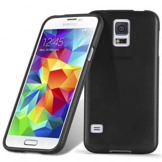 Cadorabo Hülle für Samsung Galaxy S5 / S5 NEO in SCHWARZ - Handyhülle aus flexiblem TPU Silikon - Silikonhülle Schutzhülle Ultra Slim Soft Back Cover Case Bumper