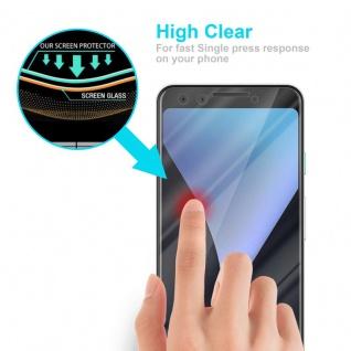 Cadorabo Panzer Folie für Google Pixel 3 - Schutzfolie in KRISTALL KLAR - Gehärtetes (Tempered) Display-Schutzglas in 9H Härte mit 3D Touch Kompatibilität - Vorschau 5