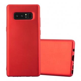 Cadorabo Hülle für Samsung Galaxy NOTE 8 in METALLIC ROT - Handyhülle aus flexiblem TPU Silikon - Silikonhülle Schutzhülle Ultra Slim Soft Back Cover Case Bumper