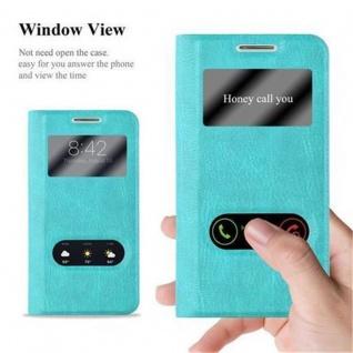 Cadorabo Hülle für Samsung Galaxy S4 in MINT TÜRKIS ? Handyhülle mit Magnetverschluss, Standfunktion und 2 Sichtfenstern ? Case Cover Schutzhülle Etui Tasche Book Klapp Style - Vorschau 2