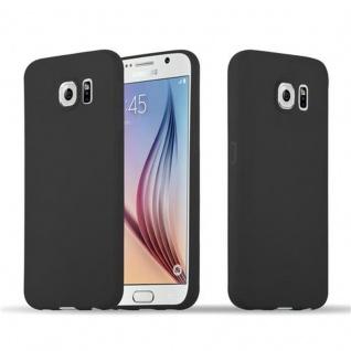 Cadorabo Hülle für Samsung Galaxy S6 in CANDY SCHWARZ - Handyhülle aus flexiblem TPU Silikon - Silikonhülle Schutzhülle Ultra Slim Soft Back Cover Case Bumper