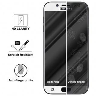 Cadorabo Vollbild Panzer Folie für Samsung Galaxy J7 PRO - Schutzfolie in TRANSPARENT mit WEISS - Gehärtetes (Tempered) Display-Schutzglas in 9H Härte mit 3D Touch Kompatibilität - Vorschau 3