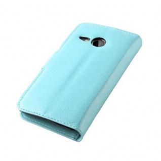 Cadorabo Hülle für HTC ONE M8 MINI in PASTEL BLAU - Handyhülle mit Magnetverschluss, Standfunktion und Kartenfach - Case Cover Schutzhülle Etui Tasche Book Klapp Style - Vorschau 4