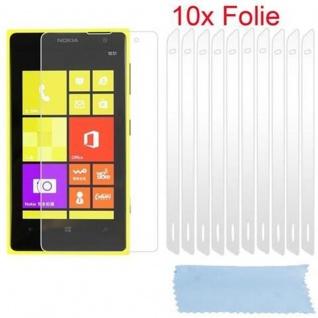 Cadorabo Displayschutzfolien für Nokia Lumia 1020 - Schutzfolien in HIGH CLEAR ? 10 Stück hochtransparenter Schutzfolien gegen Staub, Schmutz und Kratzer