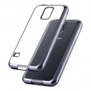 Cadorabo Hülle für Samsung Galaxy S5 / S5 NEO - Hülle in TRANSPARENT mit CHROM SCHWARZ ? Handyhülle aus TPU Silikon im Chrom Design - Silikonhülle Schutzhülle Ultra Slim Soft Back Cover Case Bumper - Vorschau 3