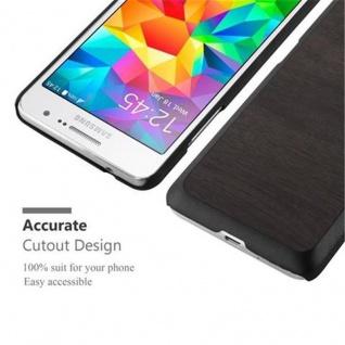 Cadorabo Hülle für Samsung Galaxy GRAND PRIME in WOODY SCHWARZ - Hardcase Handyhülle aus Plastik gegen Kratzer und Stöße - Schutzhülle Bumper Ultra Slim Back Case Hard Cover - Vorschau 4
