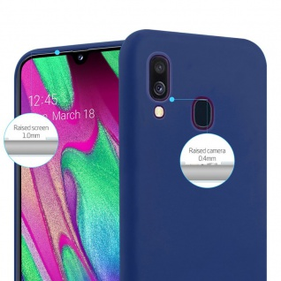 Cadorabo Hülle für Samsung Galaxy A40 in CANDY DUNKEL BLAU - Handyhülle aus flexiblem TPU Silikon - Silikonhülle Schutzhülle Ultra Slim Soft Back Cover Case Bumper - Vorschau 3