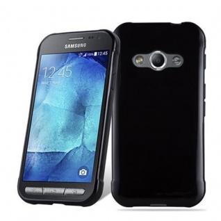 Cadorabo Hülle für Samsung Galaxy XCOVER 3 in SCHWARZ - Handyhülle aus flexiblem TPU Silikon - Silikonhülle Schutzhülle Ultra Slim Soft Back Cover Case Bumper