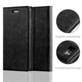 Cadorabo Hülle für Huawei P8 LITE 2015 in NACHT SCHWARZ - Handyhülle mit Magnetverschluss, Standfunktion und Kartenfach - Case Cover Schutzhülle Etui Tasche Book Klapp Style - Vorschau 2