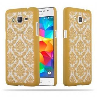 Samsung Galaxy GRAND PRIME Hardcase Hülle in GOLD von Cadorabo - Blumen Paisley Henna Design Schutzhülle ? Handyhülle Bumper Back Case Cover