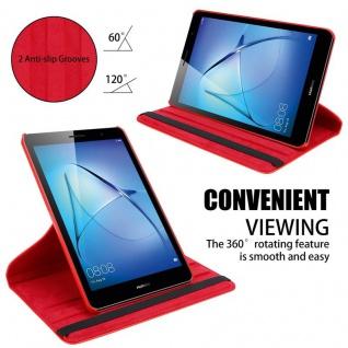 """"""" Cadorabo Tablet Hülle für Huawei MediaPad T3 8 (8, 0"""" Zoll) in MOHN ROT ? Book Style Schutzhülle OHNE Auto Wake Up mit Standfunktion und Gummiband Verschluss"""" - Vorschau 4"""
