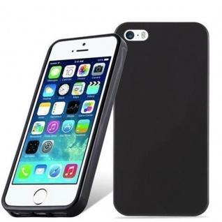 Cadorabo Hülle für Apple iPhone 5 / iPhone 5S / iPhone SE in SCHWARZ - Handyhülle aus flexiblem TPU Silikon - Silikonhülle Schutzhülle Ultra Slim Soft Back Cover Case Bumper