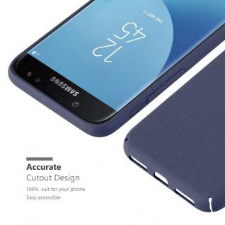 Cadorabo Hülle für Samsung Galaxy J5 2017 in FROSTY BLAU - Hardcase Handyhülle aus Plastik gegen Kratzer und Stöße - Schutzhülle Bumper Ultra Slim Back Case Hard Cover - Vorschau 3