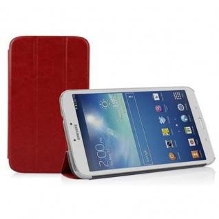 """"""" Cadorabo Hülle für Samsung Galaxy Tab 3, 0 (8"""" Zoll) - Hülle in DATTEL BRAUN ? Schutzhülle mit Auto Wake Sleep und Standfunktion - Book Style Etui Bumper Case Cover"""""""
