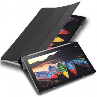 """Cadorabo Tablet Hülle für Lenovo Tab 3 10 Business (10, 1"""" Zoll) in SATIN SCHWARZ Ultra Dünne Book Style Schutzhülle mit Auto Wake Up und Standfunktion aus Kunstleder"""