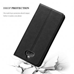 Cadorabo Hülle für Sony Xperia 10 in NACHT SCHWARZ - Handyhülle mit Magnetverschluss, Standfunktion und Kartenfach - Case Cover Schutzhülle Etui Tasche Book Klapp Style - Vorschau 5