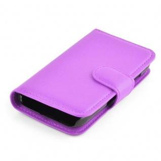 Cadorabo Hülle für Samsung Galaxy YOUNG 2 in MANGAN VIOLETT - Handyhülle mit Magnetverschluss, Standfunktion und Kartenfach - Case Cover Schutzhülle Etui Tasche Book Klapp Style - Vorschau 3