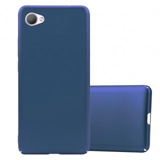 Cadorabo Hülle für HTC Desire 12 in METALL BLAU Hardcase Handyhülle aus Plastik gegen Kratzer und Stöße Schutzhülle Bumper Ultra Slim Back Case Hard Cover