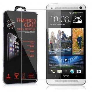 Cadorabo Panzer Folie für HTC ONE M7 (1.Gen.) Schutzfolie in KRISTALL KLAR Gehärtetes (Tempered) Display-Schutzglas in 9H Härte mit 3D Touch Kompatibilität