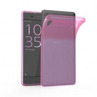 Cadorabo Hülle für Sony Xperia X in TRANSPARENT PINK - Handyhülle aus flexiblem TPU Silikon - Silikonhülle Schutzhülle Ultra Slim Soft Back Cover Case Bumper