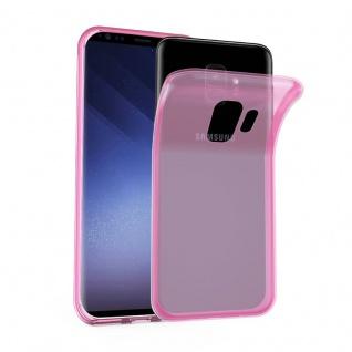 Cadorabo Hülle für Samsung Galaxy S9 in TRANSPARENT PINK - Handyhülle aus flexiblem TPU Silikon - Silikonhülle Schutzhülle Ultra Slim Soft Back Cover Case Bumper