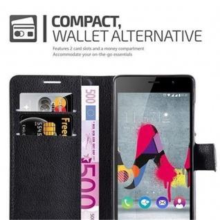 Cadorabo Hülle für WIKO SLIDE 2 in PHANTOM SCHWARZ - Handyhülle mit Magnetverschluss, Standfunktion und Kartenfach - Case Cover Schutzhülle Etui Tasche Book Klapp Style - Vorschau 3