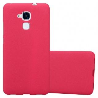 Cadorabo Hülle für Honor 5C in FROST ROT - Handyhülle aus flexiblem TPU Silikon - Silikonhülle Schutzhülle Ultra Slim Soft Back Cover Case Bumper