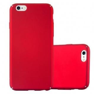 Cadorabo Hülle für Apple iPhone 6 / iPhone 6S in METALL ROT - Hardcase Handyhülle aus Plastik gegen Kratzer und Stöße - Schutzhülle Bumper Ultra Slim Back Case Hard Cover