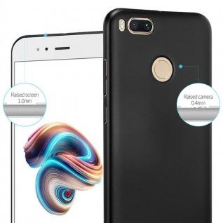 Cadorabo Hülle für Xiaomi Mi A1 / 5X in METALL SCHWARZ ? Hardcase Handyhülle aus Plastik gegen Kratzer und Stöße ? Schutzhülle Bumper Ultra Slim Back Case Hard Cover - Vorschau 4