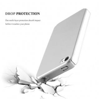 Cadorabo Hülle für Apple iPhone 4 / iPhone 4S in METALL SILBER - Hardcase Handyhülle aus Plastik gegen Kratzer und Stöße - Schutzhülle Bumper Ultra Slim Back Case Hard Cover - Vorschau 3