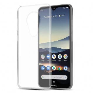 Cadorabo Hülle für Nokia 7.2 in VOLL TRANSPARENT - Handyhülle aus flexiblem TPU Silikon - Silikonhülle Schutzhülle Ultra Slim Soft Back Cover Case Bumper