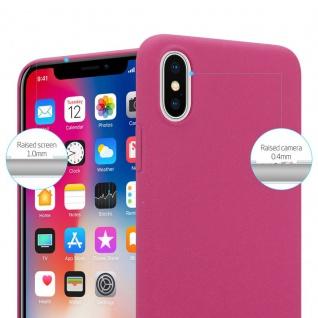 Cadorabo Hülle für Apple iPhone X / XS in FROSTY PINK - Hardcase Handyhülle aus Plastik gegen Kratzer und Stöße - Schutzhülle Bumper Ultra Slim Back Case Hard Cover - Vorschau 2