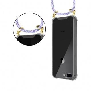 Cadorabo Handy Kette für Apple iPhone 8 PLUS / 7 PLUS / 7S PLUS in UNICORN - Silikon Necklace Umhänge Hülle mit Gold Ringen, Kordel Band Schnur und abnehmbarem Etui ? Schutzhülle - Vorschau 4