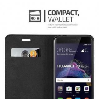 Cadorabo Hülle für Huawei P8 LITE 2017 in APFEL ROT - Handyhülle mit Magnetverschluss, Standfunktion und Kartenfach - Case Cover Schutzhülle Etui Tasche Book Klapp Style - Vorschau 2
