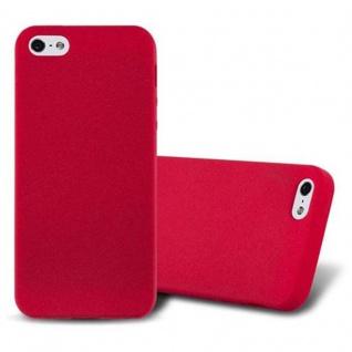 Cadorabo Hülle für Apple iPhone 5 / iPhone 5S / iPhone SE in FROST ROT - Handyhülle aus flexiblem TPU Silikon - Silikonhülle Schutzhülle Ultra Slim Soft Back Cover Case Bumper
