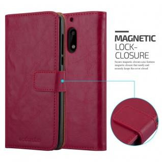 Cadorabo Hülle für Nokia 6 2017 in WEIN ROT ? Handyhülle mit Magnetverschluss, Standfunktion und Kartenfach ? Case Cover Schutzhülle Etui Tasche Book Klapp Style - Vorschau 2