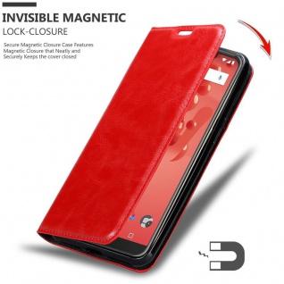 Cadorabo Hülle für WIKO VIEW 2 PLUS in APFEL ROT - Handyhülle mit Magnetverschluss, Standfunktion und Kartenfach - Case Cover Schutzhülle Etui Tasche Book Klapp Style - Vorschau 3