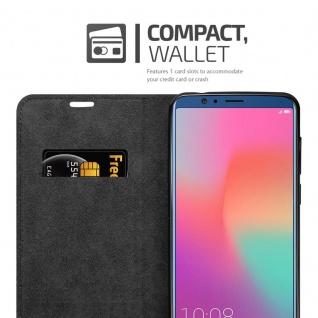 Cadorabo Hülle für Honor 10 VIEW in NACHT SCHWARZ - Handyhülle mit Magnetverschluss, Standfunktion und Kartenfach - Case Cover Schutzhülle Etui Tasche Book Klapp Style - Vorschau 3
