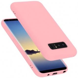Cadorabo Hülle für Samsung Galaxy NOTE 8 in LIQUID PINK Handyhülle aus flexiblem TPU Silikon Silikonhülle Schutzhülle Ultra Slim Soft Back Cover Case Bumper