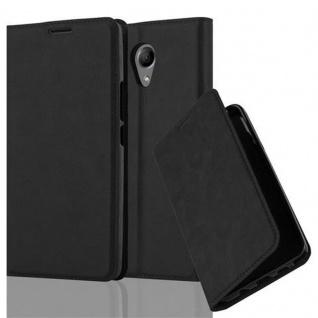 Cadorabo Hülle für WIKO ROBBY in NACHT SCHWARZ - Handyhülle mit Magnetverschluss, Standfunktion und Kartenfach - Case Cover Schutzhülle Etui Tasche Book Klapp Style