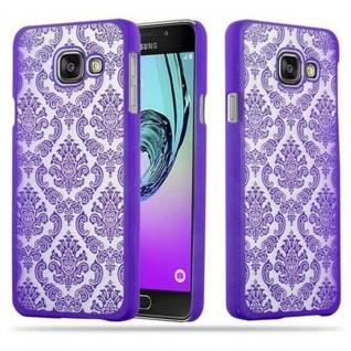 Samsung Galaxy A3 2016 Hardcase Hülle in LILA von Cadorabo - Blumen Paisley Henna Design Schutzhülle ? Handyhülle Bumper Back Case Cover
