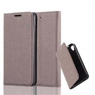 Cadorabo Hülle für HTC DESIRE 626G in KAFFEE BRAUN - Handyhülle mit Magnetverschluss, Standfunktion und Kartenfach - Case Cover Schutzhülle Etui Tasche Book Klapp Style